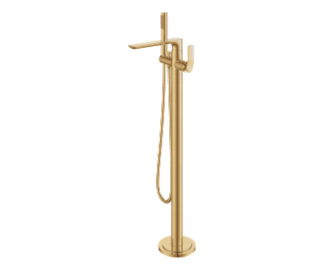 Monocomando de Piso para Banheira Com Ducha Manual Rainbow Brushed Gold